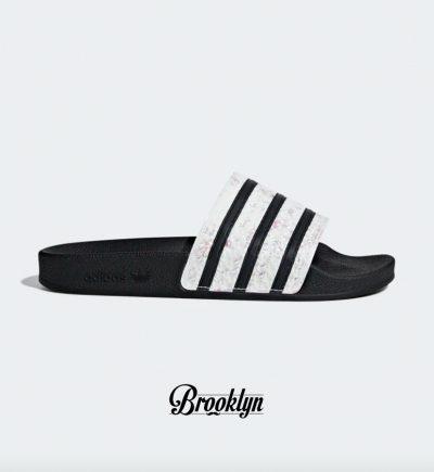Adidas adilette w negra blanca
