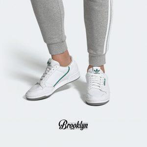 Adidas Continental 80 blanco verde 2