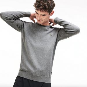 lacoste jersey cuello redondo gris