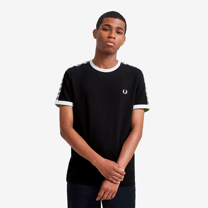 Fred Perry camiseta logo negro