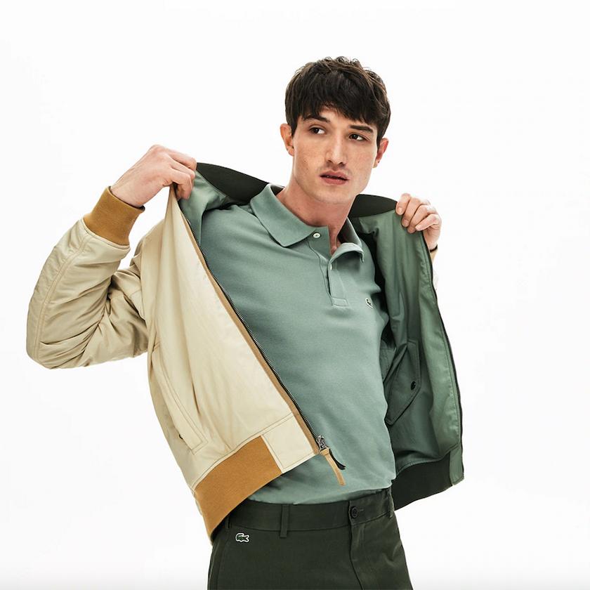 Lacoste chaqueta reversibe verde kaki