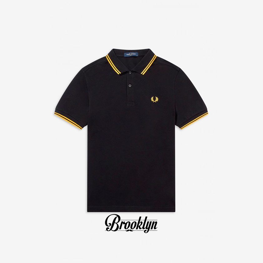 Fred Perry polo negro amarillo